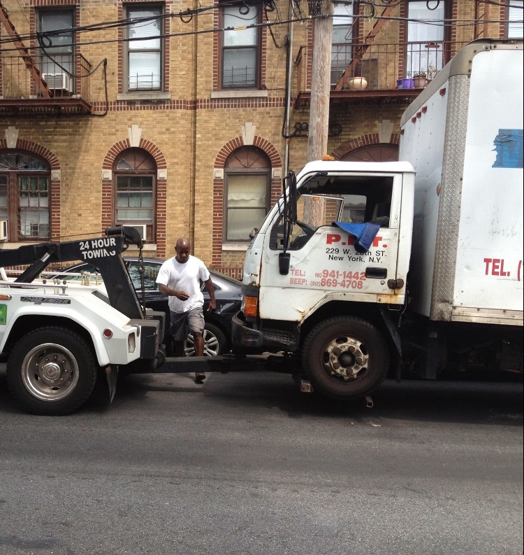 Towing a car in Brooklyn
